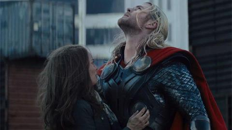 Thor reunites with Jane, just as he promised.