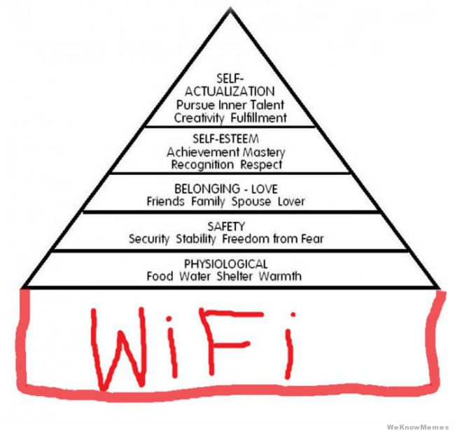 This day and age, everyone needs WiFi, and a few Maslow steps after that, a new job every so often.