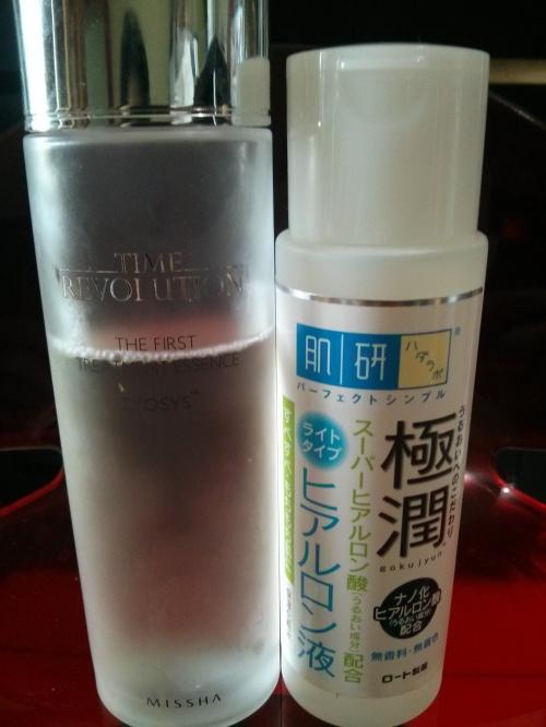 korean_10_step_skin_care_missha_time_revolution_the_first_essence_hada_labo_lotion