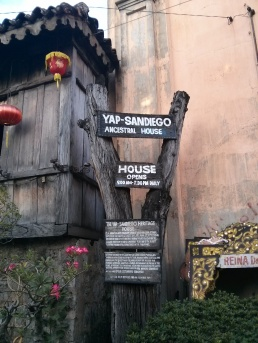 Entrance to the Yap-Sandiego ancestral house.
